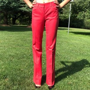 Comfy Red wide leg Theory Shinna Bi pants